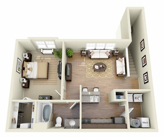 Garage Apartment Plans Bedroom Real Estate