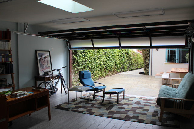 Garage Conversion Contemporary Home Office Library