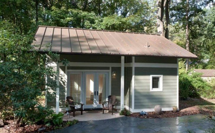 Garage Converted Into Tiny Cottage