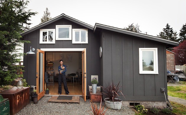 Garage Converted Into Wonderful Small Dream Home