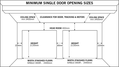 Garage Doors Sizes Door Chart