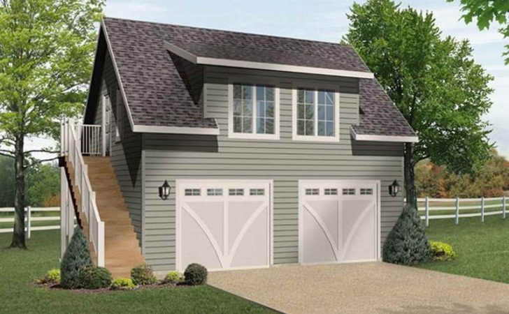 Garage Modern Design Two Car Plans Loft