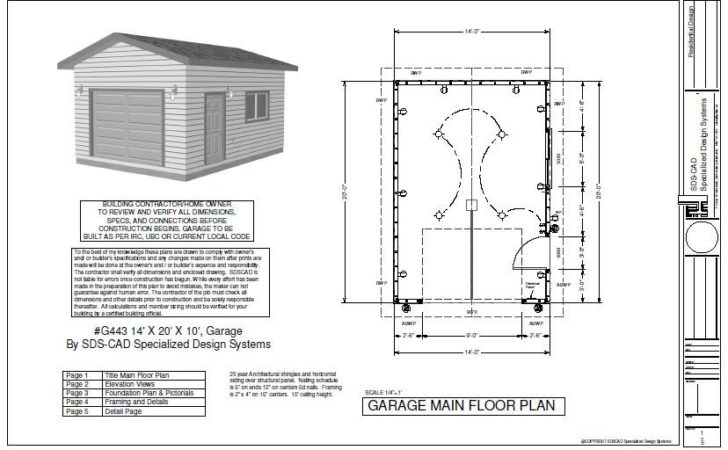 Garage Plan Blueprint