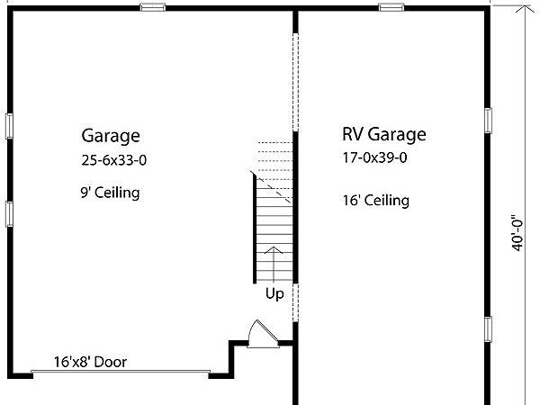 Garage Plan Cad Available Narrow Lot Pdf