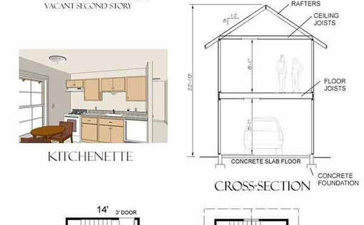 Garage Plans Craftsman Style One Car Two Story
