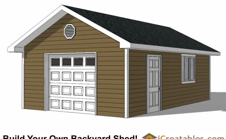 Garage Shed Plans Build Your Own Large