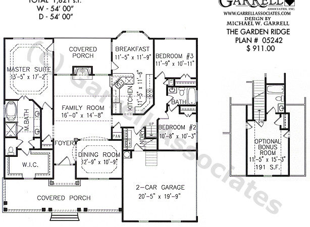 Garden Ridge House Plan Plans Garrell