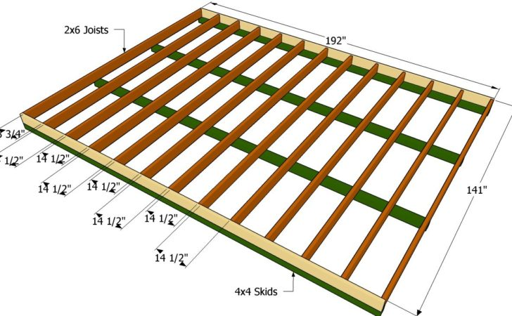 Garden Shed Floor Plans Build