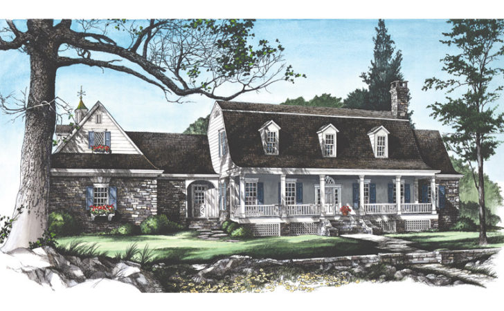Garrison Colonial Home Plan House Plans More