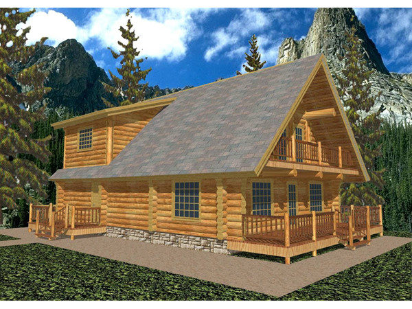 Gasconade Frame Log Home Plan House Plans
