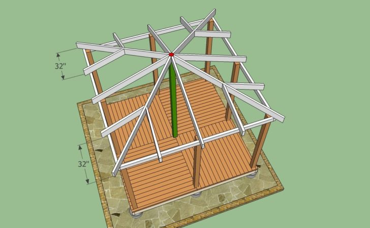 Gazebo Plans Howtospecialist Build Step