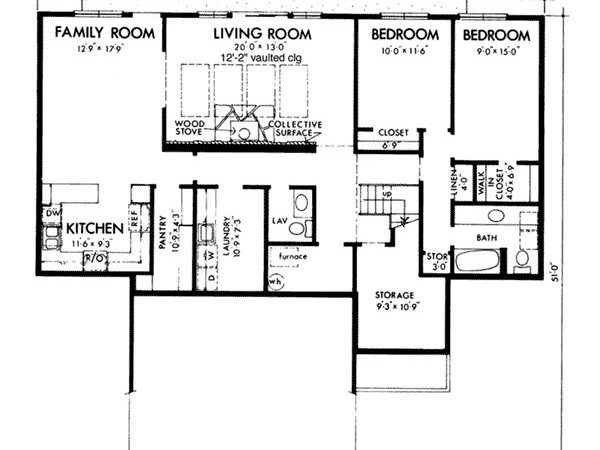 Genesta Contemporary Berm Home Plan House