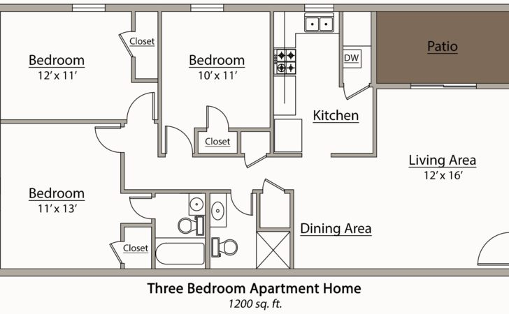 Genius Apartment Floor Plans Bedroom Home Building