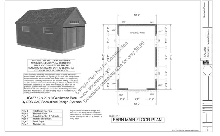 Gentleman Barn Plans Blueprints House Plan Reviews