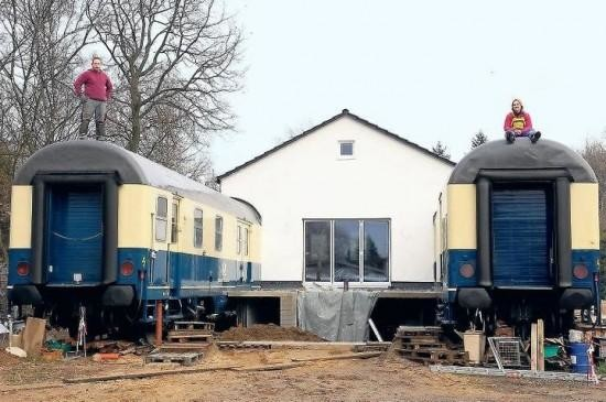 German Couple Convert Two Train Cars Into Home