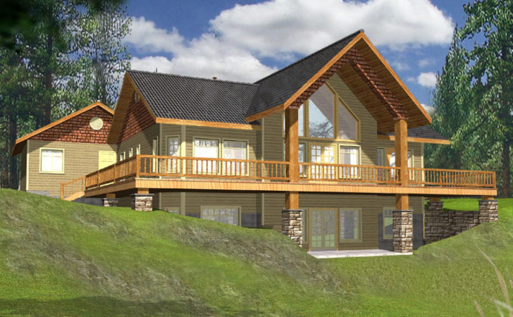 Golden Lake Rustic Frame Home Plan House