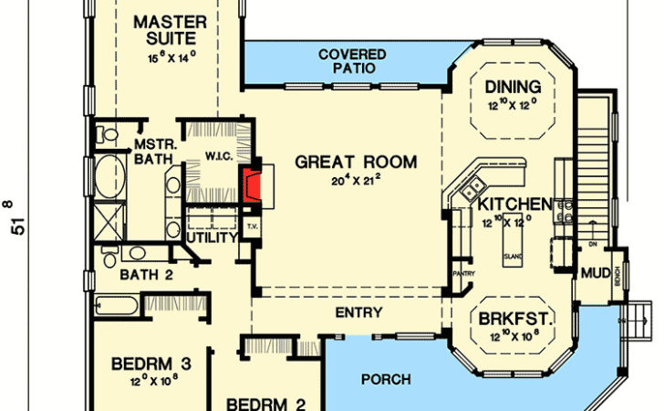 Great Little Ranch House Plan Architectural