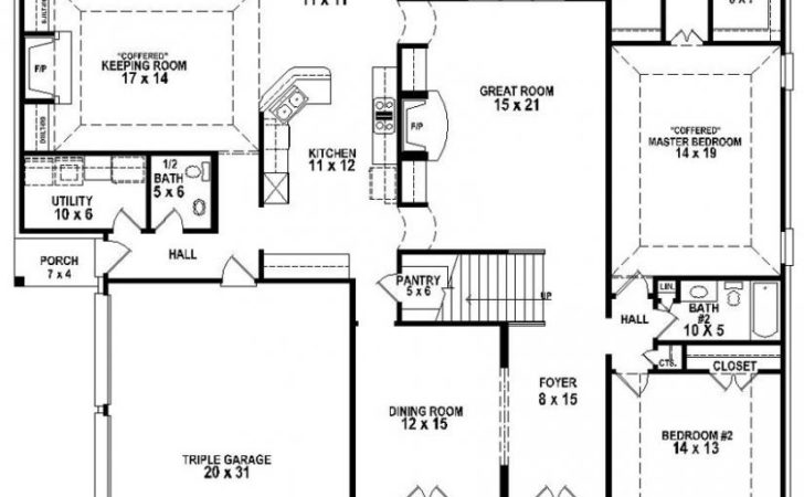 Great Looking Bedroom Bath House Plan