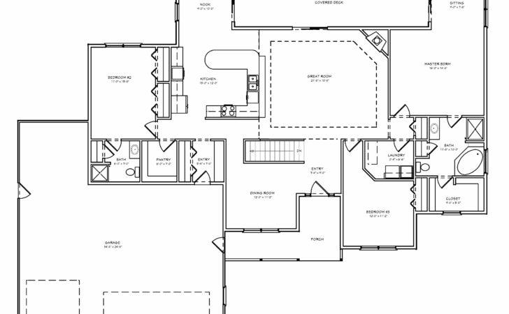 Greatroom Ranch House Plan Single Level Great Room