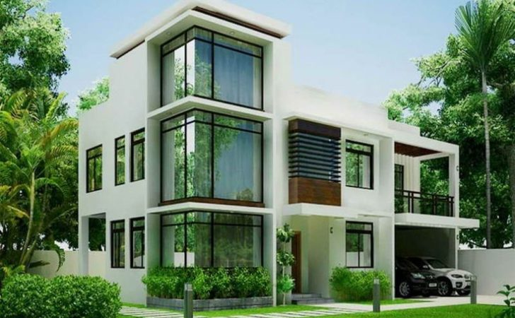 Green Modern Contemporary House Designs Philippines