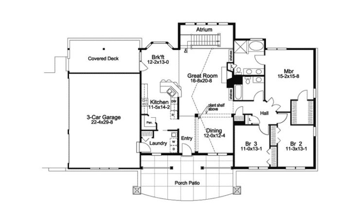 Greensaver Atrium Berm Home Plan House Plans