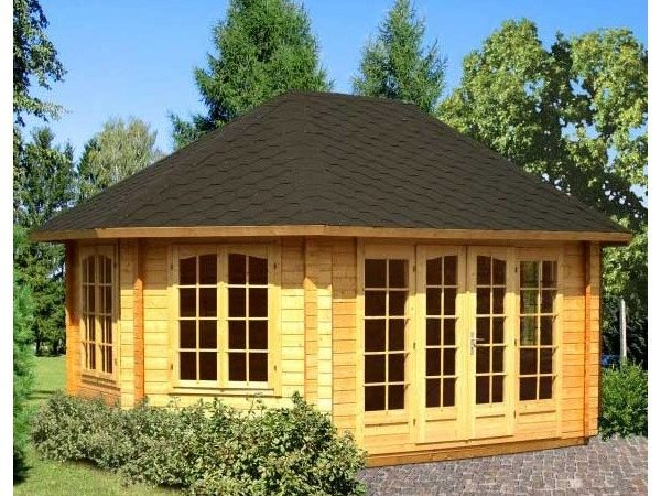 Gudrum Lisette Octagonal Summer House Log Cabin Large