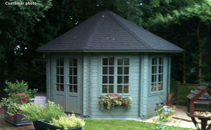 Hanna Sqm Octagonal Summer House Gardenlife Log