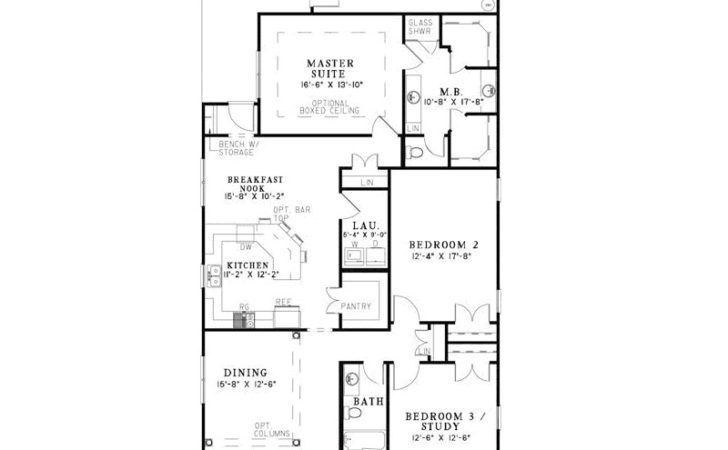 Hawkins Corner Narrow Lot Home Plan House