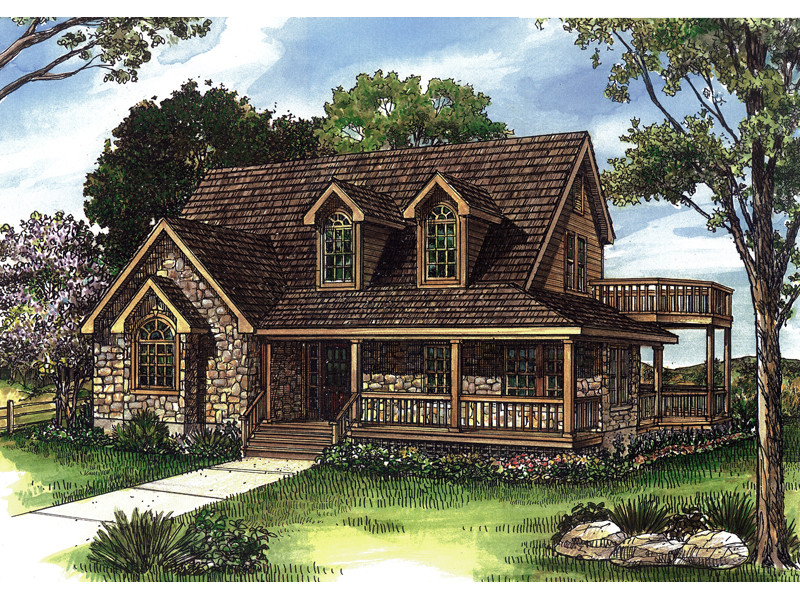 Henry Vacation Waterfront Home Plan House
