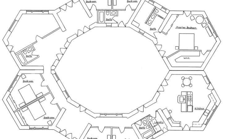 Hexagonal Earthbag House Plans
