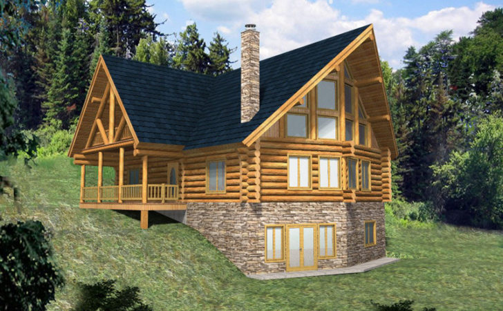 Hickory Creek Frame Log Home Plan House