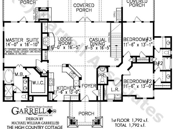 High Country Cottage House Plan Plans Garrell