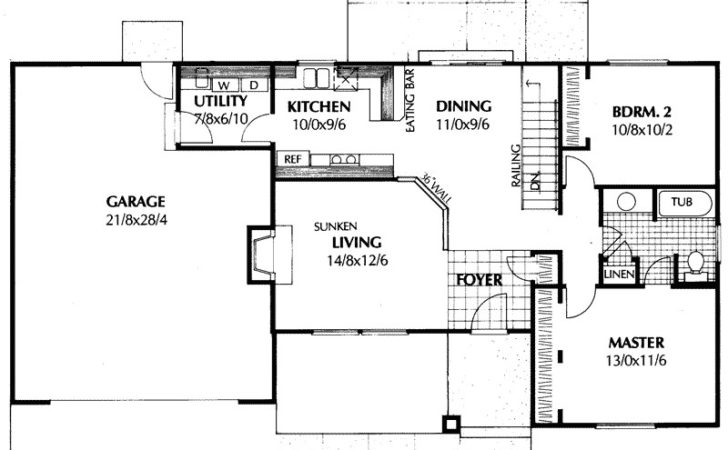 High Hollow Ranch Home Plan House Plans More