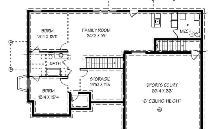 High House Plans Basement