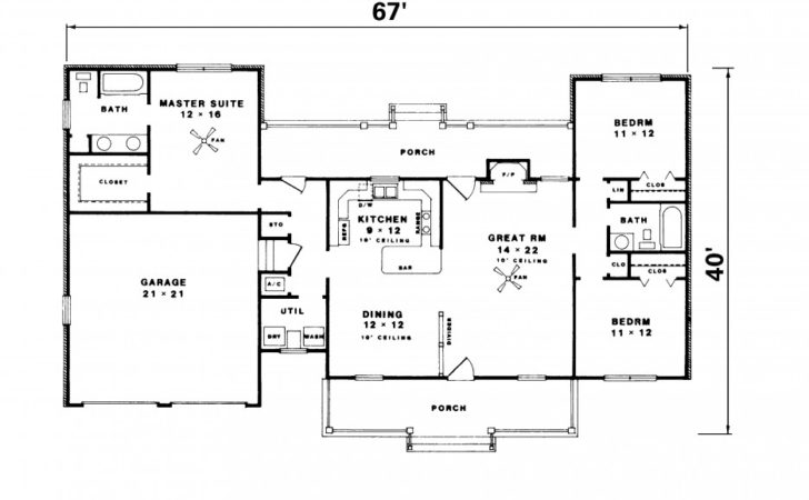 High Quality Simple Ranch House Plans