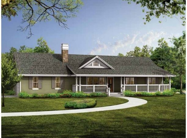 High Ranch Home Plans Style House