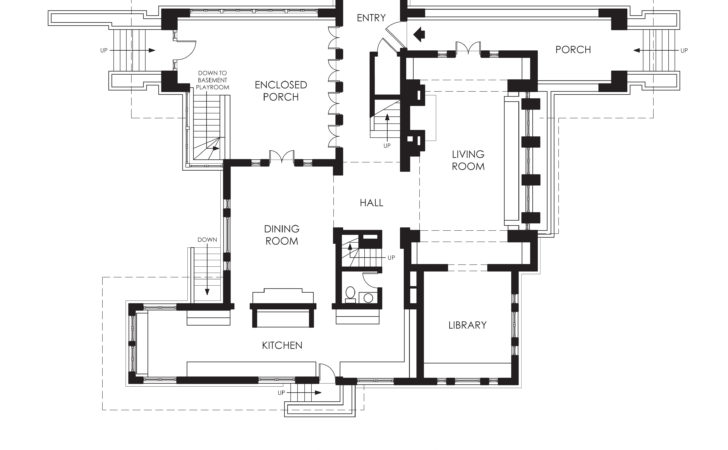 Hills Decaro House First Floor Plan Wikipedia