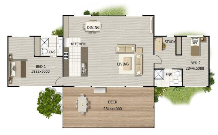 Hillside Home Plan Bedroom Plus Study