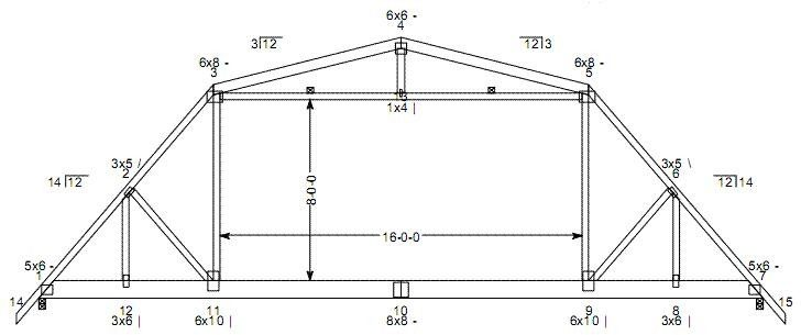 Hip Roof Barn Truss Design Motorcycle Shed
