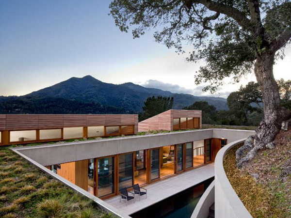 Home Built Into Hillside Kentfield California