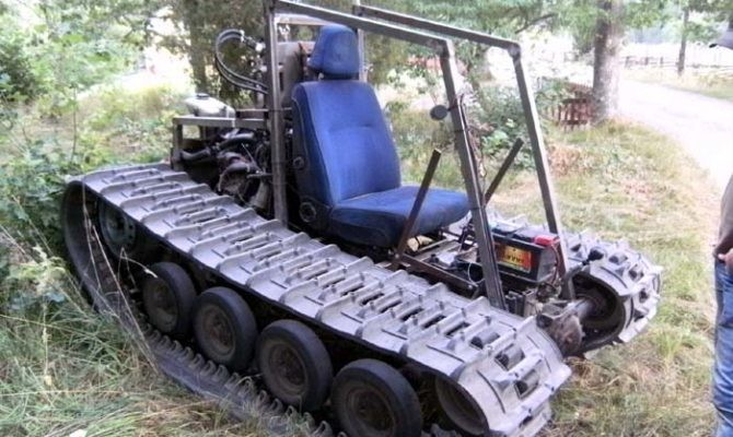 Home Built Tracked Vehicle Can Take Anti Histamine