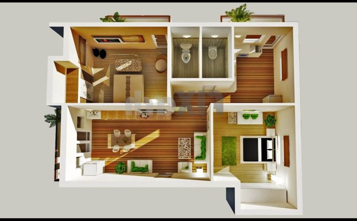 Home Design Appealing Two Bedroom House Planss