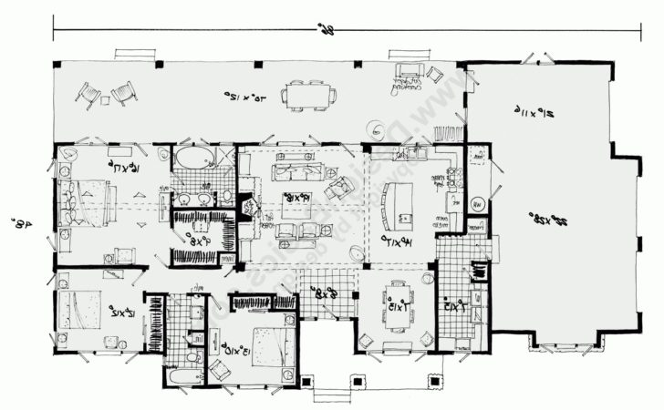 Home Design Awesome Single Story House Planss