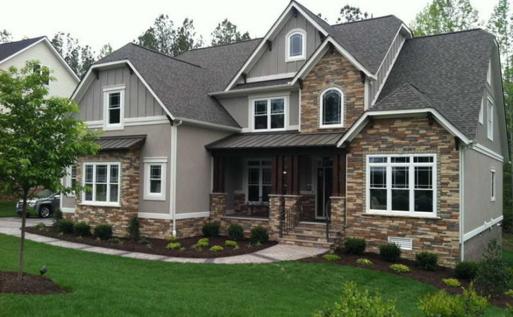 Home Design Craftsman Style House Plans Gray Walls