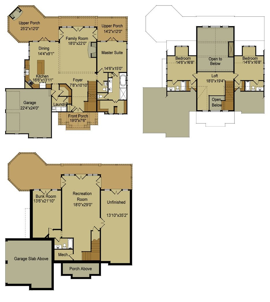 Home Designs Enchanting House Plans Walkout
