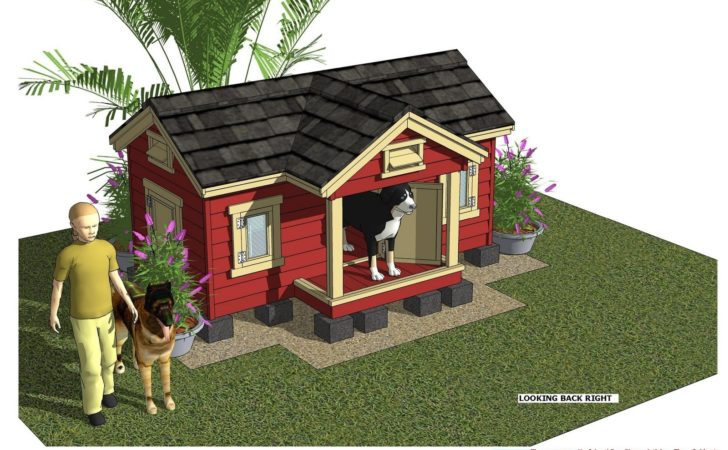 Home Garden Plans Insulated Dog House