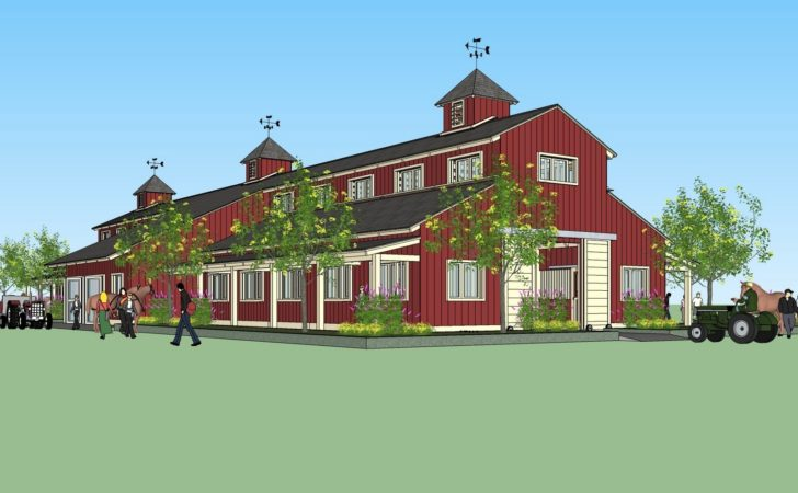 Home Garden Plans Large Horse Barn