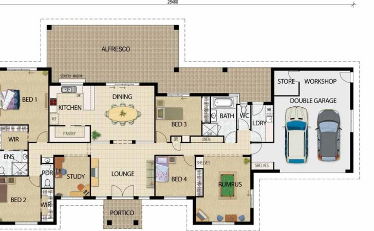 Home Ideas Open Area House Plans