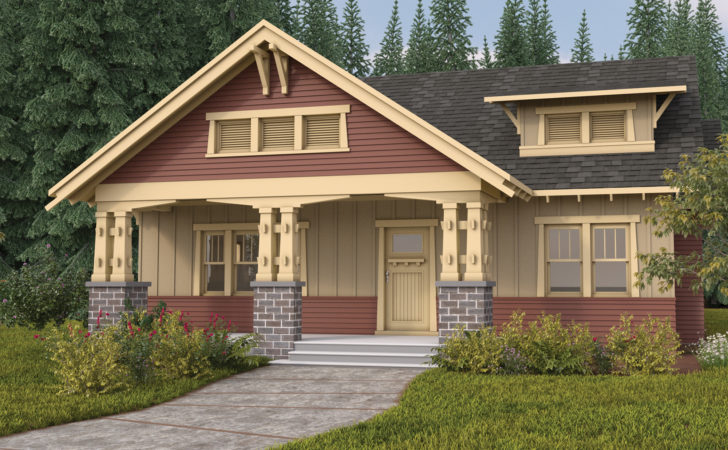 Home Plan Bungalow Lives Large Narrow Lot