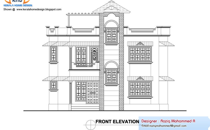 Home Plan Elevation Kerala Design Floor Plans